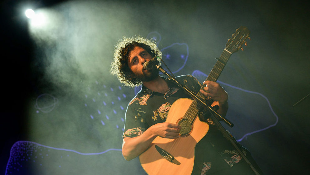 LISBON, PORTUGAL - JULY 09: Jose Gonzalez performs on the Heineken stage during NOS Alive '16 Day 3 at Passeio Martimo De Alge on July 9, 2016 in Lisbon, Portugal. (Photo by Roberto Ricciuti/Redferns)