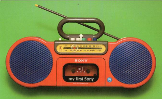 Eine Boombox von Sony