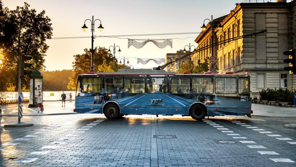 "Der ""Vanishing Bus"" in Vilnius"