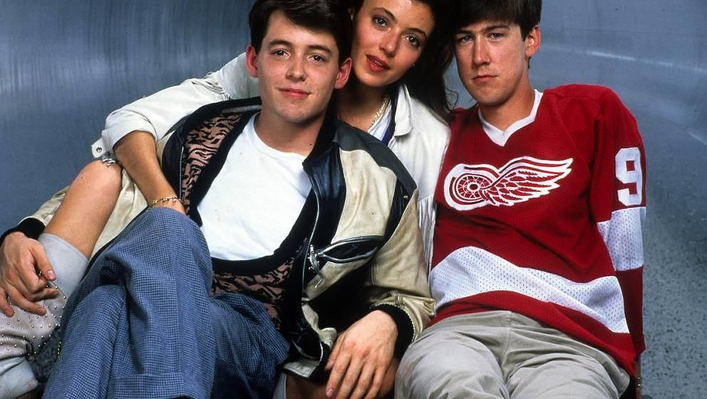 Matthew Broderick, Mia Sara, and Alan Ruck publicity portrait for the film 'Ferris Bueller's Day Off', 1986. (Photo by Paramo