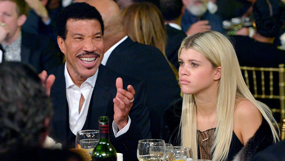 LOS ANGELES, CA - FEBRUARY 13:  Honoree Lionel Richie (L) and Sofia Richie attend the 2016 MusiCares Person of the Year honor