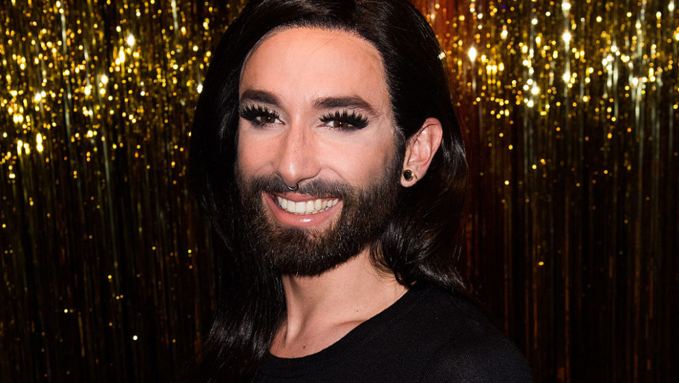 BERLIN, GERMANY - MAY 08:  Conchita Wurst presents her own wax figure at Madame Tussauds on May 8, 2016 in Berlin, Germany.