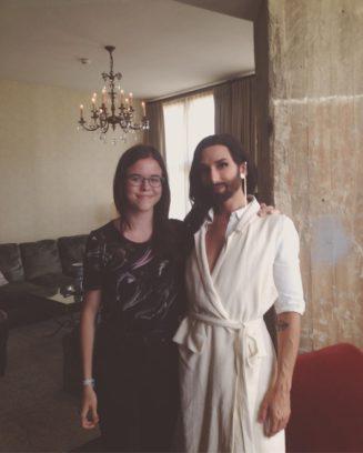 Conchita Wurst beim Interview im Soho House Berlin