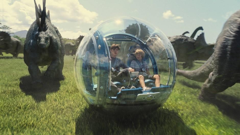 """Szene aus """"Jurassic World"""", der 2015 zum erfolgreichsten Blockbuster wurde."""