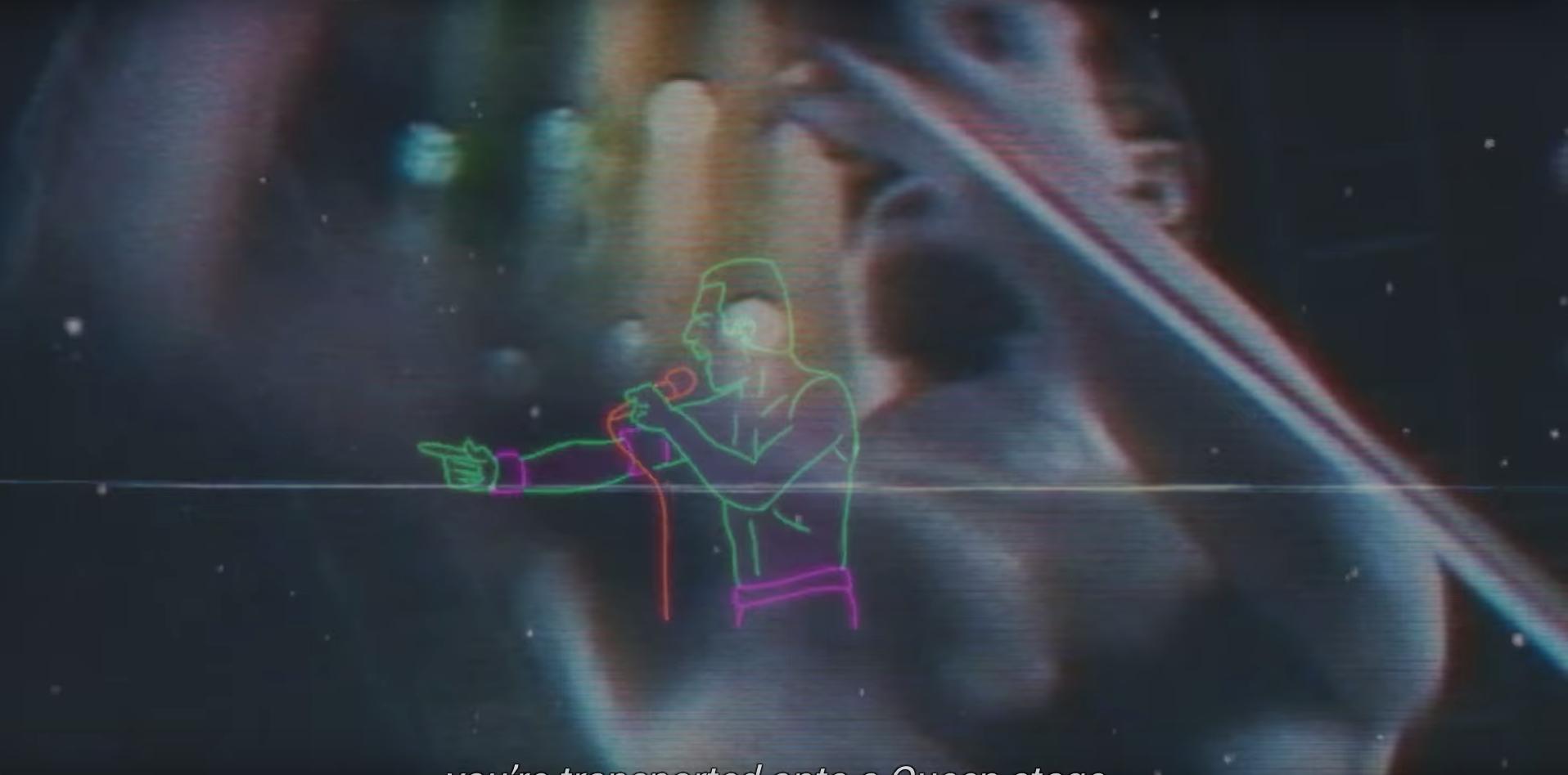 Animierter Freddie Mercury im Video zur Bohemian-Rhapsody-App