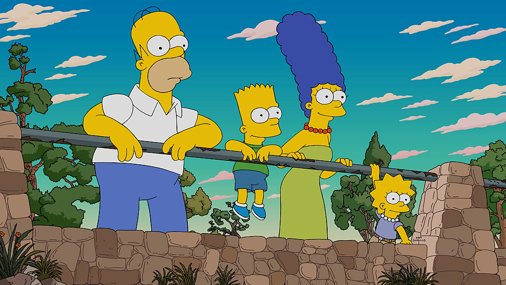 THE SIMPSONS: Homer recalls a tense trip to the Grand Canyon with the Flanders family in the Fland Canyon episode of THE SIMP