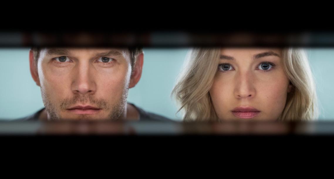 Allein auf einer 90-jährigen Reise: Chris Pratt und Jennifer Lawrence.