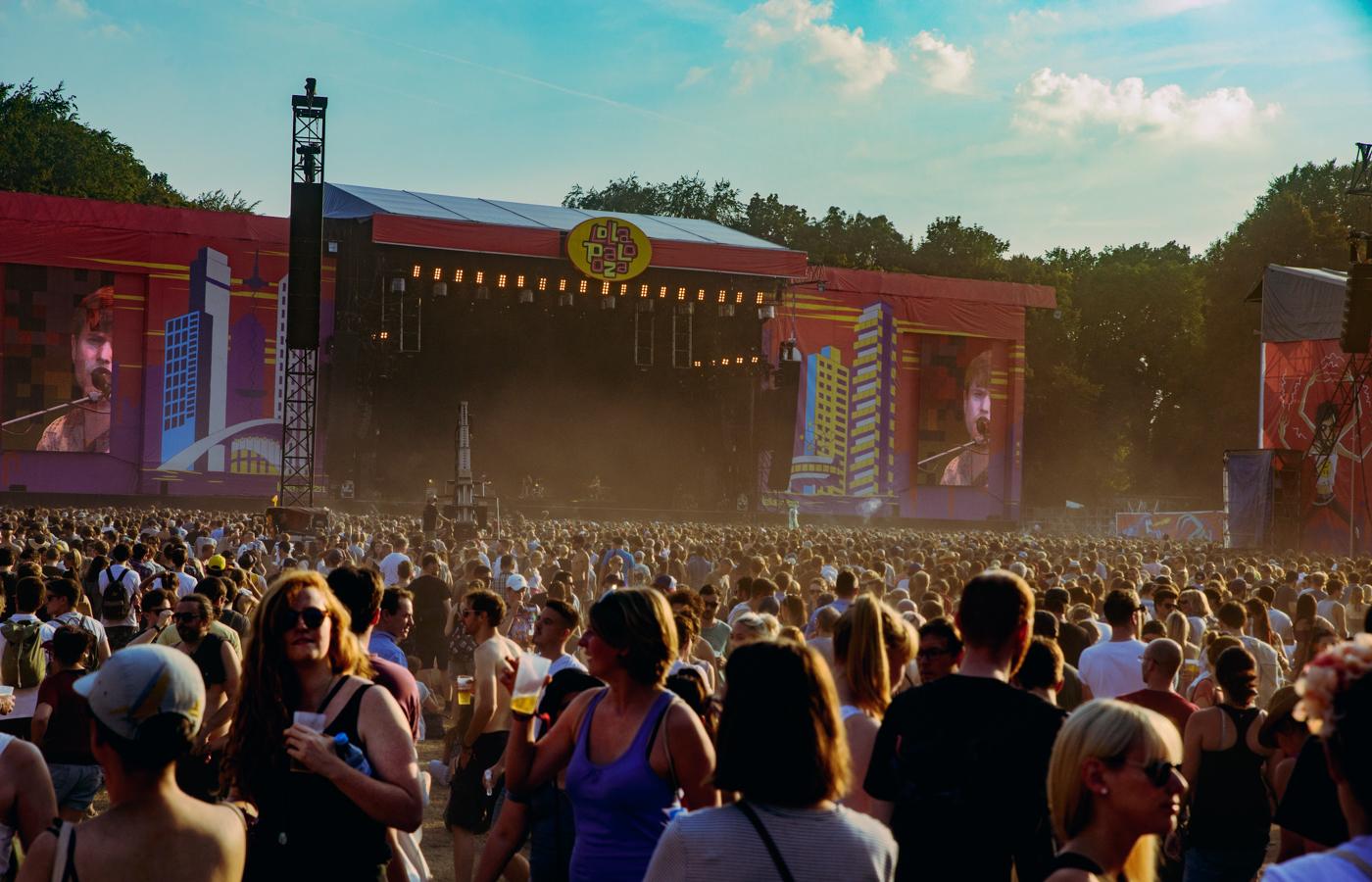 Wird im nächsten Jahr wieder in Berlin aufgebaut: die Lollapalooza-Bühne