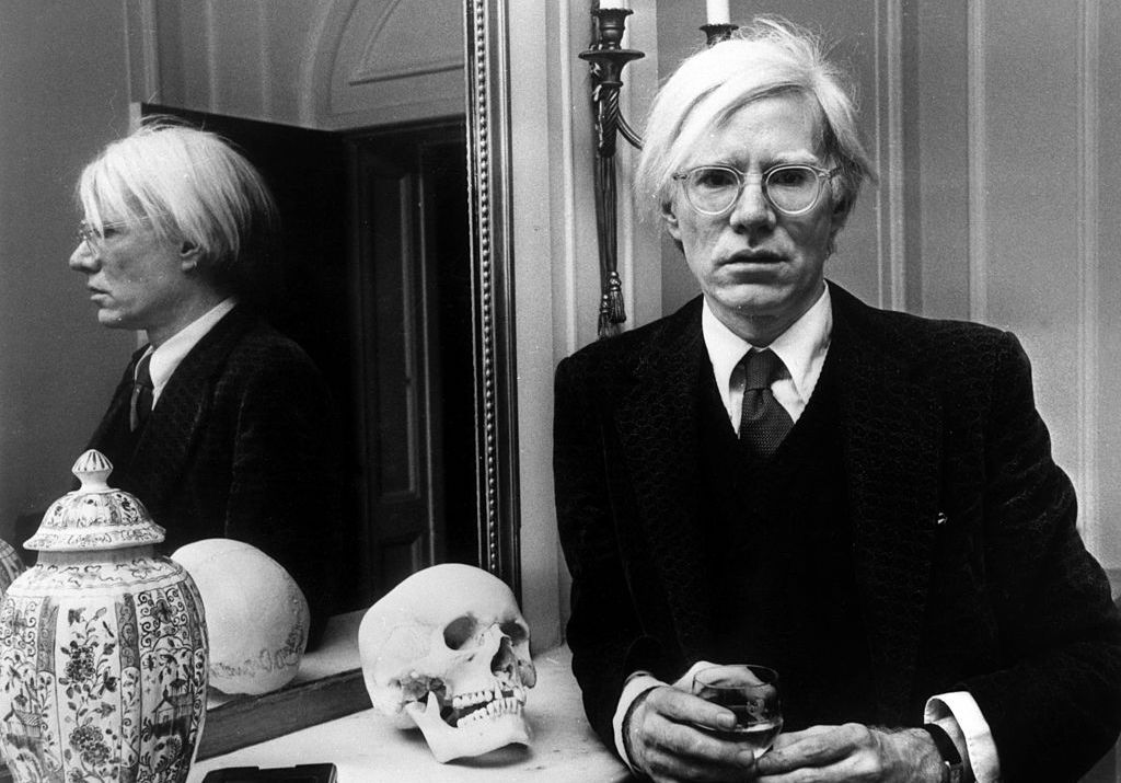 American pop artist Andy Warhol (1928 - 1987) in London on 22nd November 1975.  (Photo by AGIP/RDA/Getty Images)