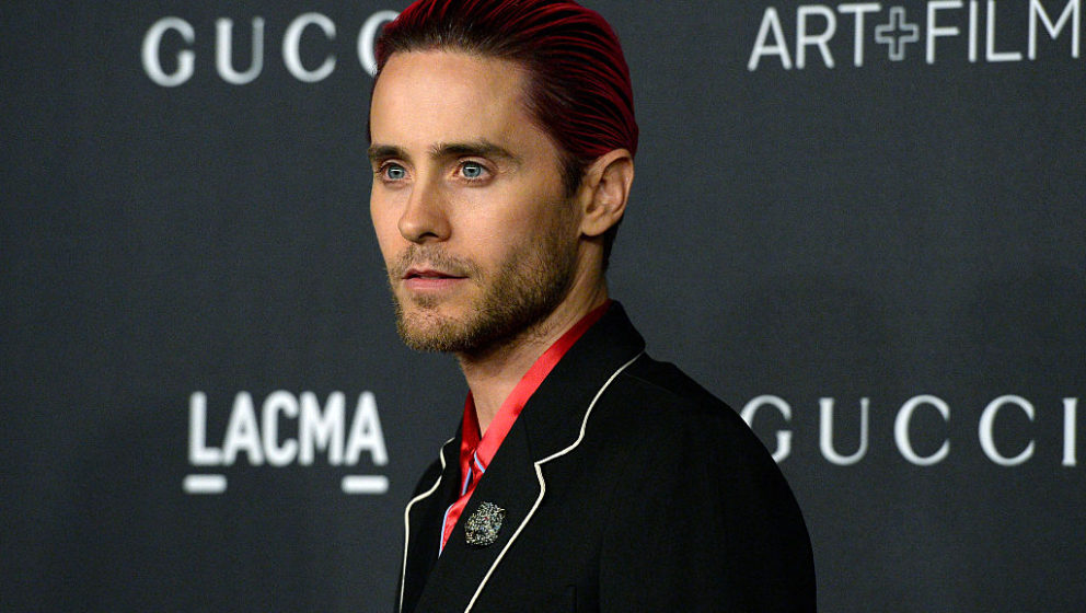 LOS ANGELES CA - NOVEMBER 7: Actor Jared Leto, wearing Gucci, attends the LACMA Art + Film Gala honoring Alejandro G. Iñárr