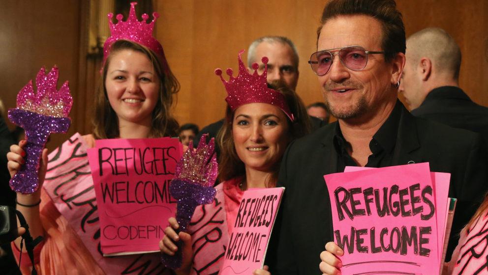 Kann sich nicht so recht mit den Werten von Trump identifizieren: Bono