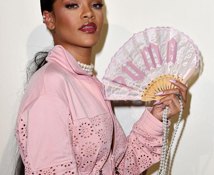 A model prepares backstage during FENTY x PUMA by Rihanna at Hotel Salomon de Rothschild on September 28, 2016 in Paris, Fran