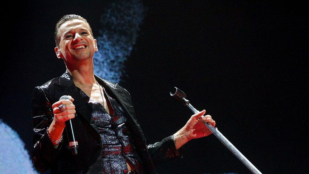 Dave Gahan bei einem Depeche-Mode-Konzert im Januar 2014 in Madrid