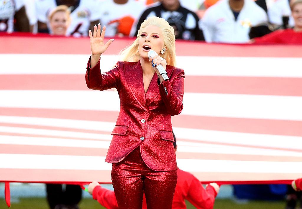 Lady Gaga beim diesjährigen Super Bowl