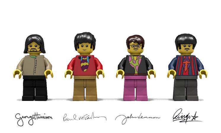 So sehen die Beatles als Lego-Figürchen aus.