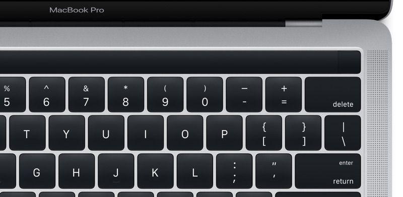 Die neue Funktionsleiste beim Macbook Pro