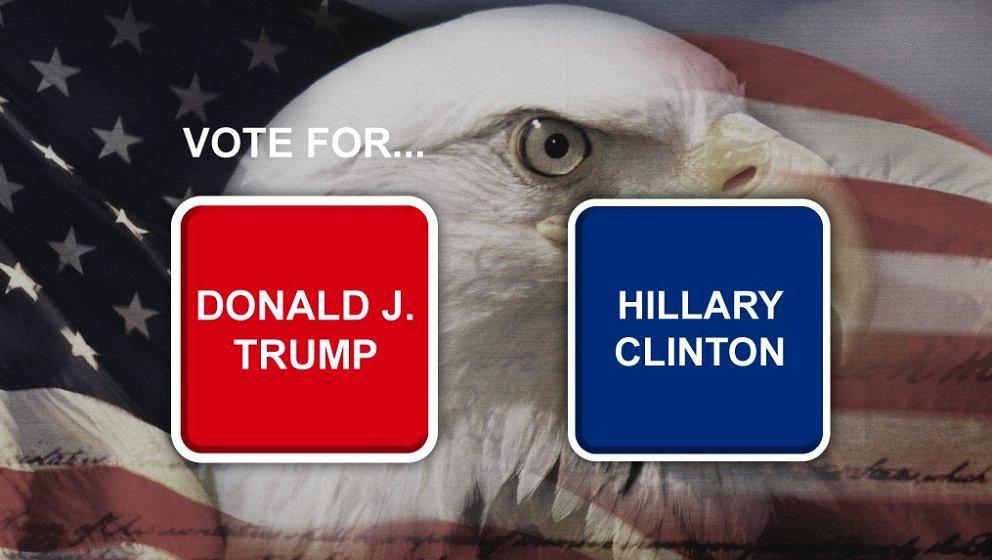 Einfach zu bedienen, aber schon die Farbgebung wirkt suggestiv: die neuen Wahlmaschinen-Modelle von Donald Trump.