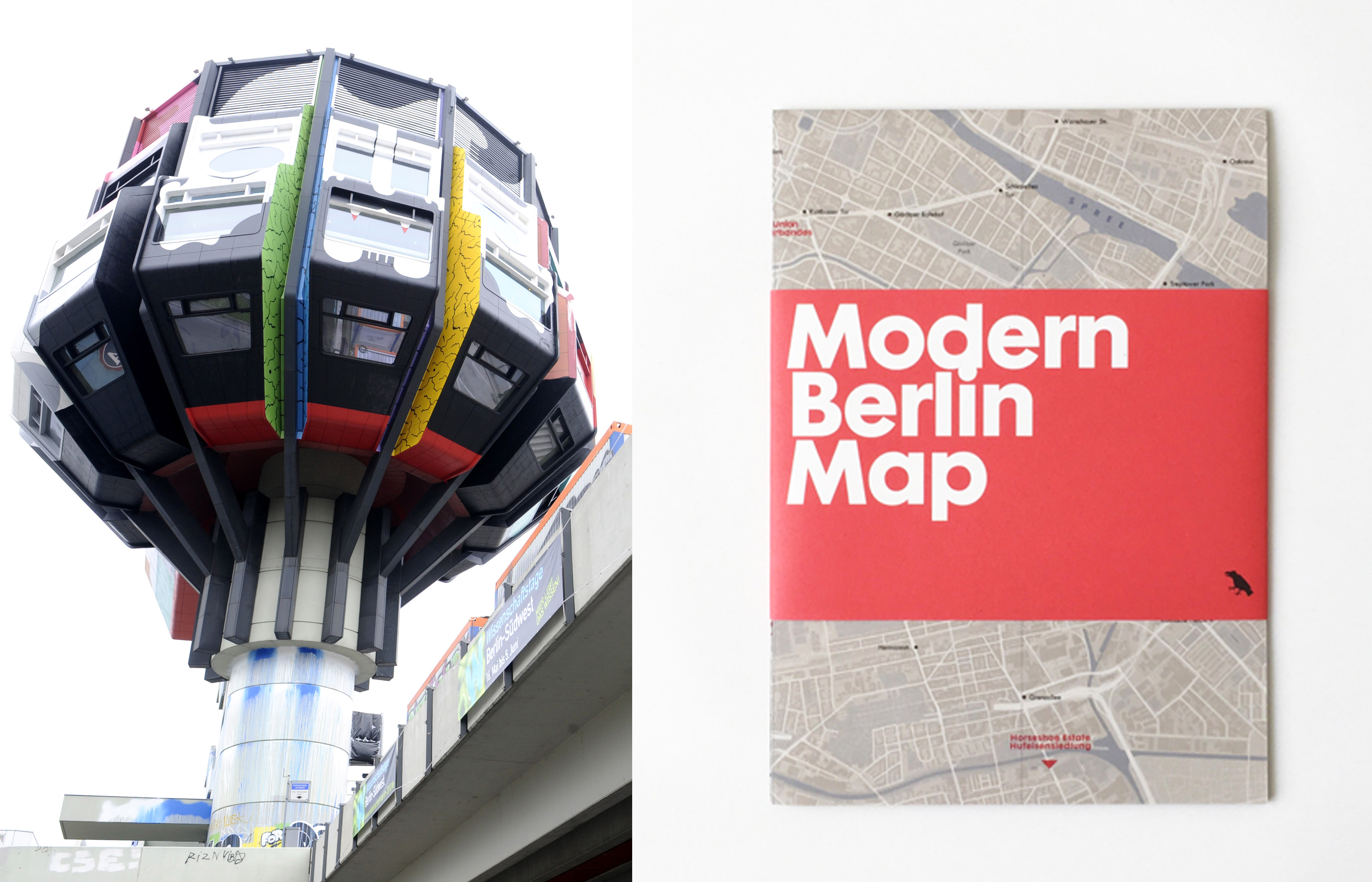 Der bunte sogenannten Bierpinsel steht am Donnerstag (13.05.2010) in Berlin-Steglitz. Sechs Wochen lang wurde er bemalt, nun erstrahlt der Bierpinsel in neuem Glanz. An diesem Freitag (14.05.) wird das Graffiti-Projekt 'Turmkunst 2010' vollendet. Vier internationale Streetart-KŸnstler hatten den knapp 50 Meter hohen Turm an der Schlo§stra§e am 1. April in Beschlag genommen und seitdem jeden Tag von einem Fassadenlift aus besprŸht. Fast 2000 Farbdosen wurden verbraucht. Die Graffiti-Motive sollen ein Jahr an der Fassade des Turms bleiben. Der Name entstand im Volksmund, als der Turm 1976 eršffnet und auf der Feier Freibier ausgeschenkt wurde. In den folgenden Jahrzehnten beherbergte das GebŠude Kneipen und Restaurants, stand zuletzt aber wegen Sanierungsarbeiten mehrere Jahre leer. Foto: Rainer Jensen dpa/lbn +++(c) dpa - Bildfunk+++ | Verwendung weltweit