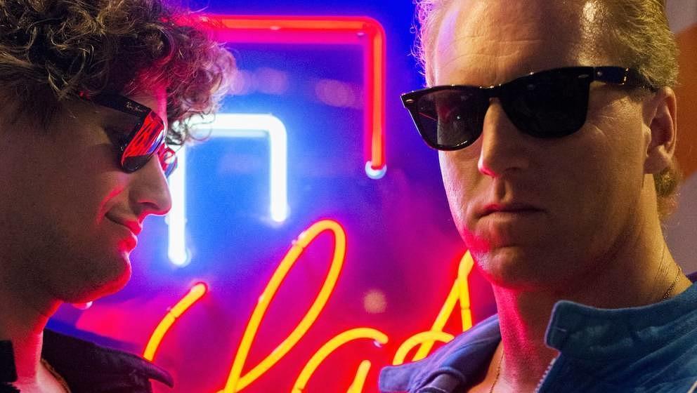 Bad Taste in ganz schön gut: Big Ballermike und Gianni La Bamba mischen 80er-Jahre-Sounds mit kontemporären Beats und einer Ästhetik irgendwo zwischen Fitnessstudio und Miami Vice.