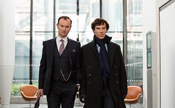 Mycroft Holmes (Mark Gatiss) und Sherlock Holmes (Benedict Cumberbatch)