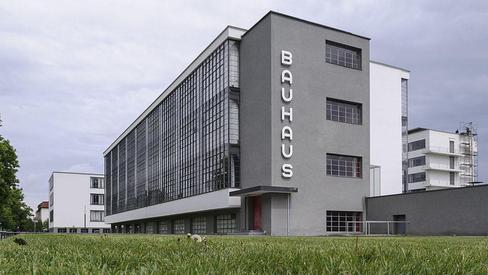 DESSAU-ROSSLAU, GERMANY - May 09: (EDITOR NOTES: The photo was taken with a tilt-shift lens) The Bauhaus is seen on May 9, 2014 in Dessau-Rosslau, Germany. All Master Houses were built in the 1920s by Walter Gropius, head of the Bauhaus school until 1928 and a major figure in the Bauhaus movement, the Meisterhaeuser served as homes for the Bauhaus school professors but were also meant as examples of the Bauhaus ideal for urban living. The Gropius house and the Maholy-Nagy house were destroyed on 07 march 1945 in the second world war. The rebuilt Meisterhaeuser will open to the public in a ceremony led by German President Gauck on May 16. (Photo by Jens Schlueter/Getty Images)
