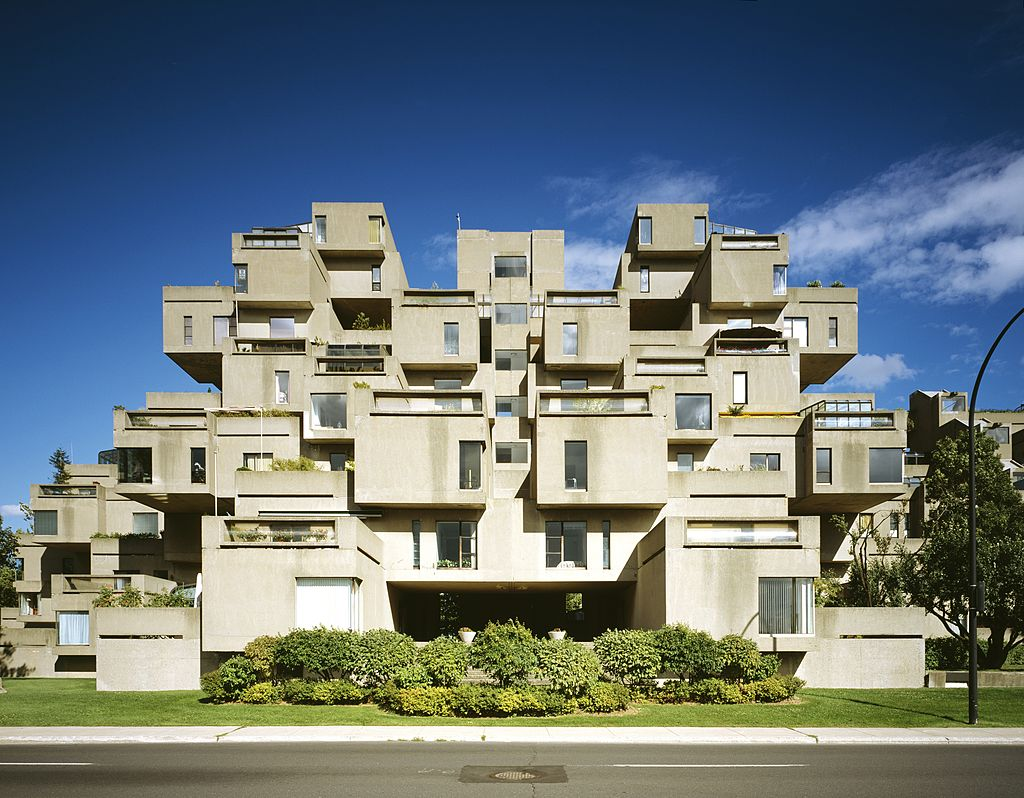 Habitat '67, 2600, Pierre Dupuy Avenue, Montreal, 1967. Facade, Architects: Moshe Safdie. (Photo by Arcaid/UIG via Getty Images)