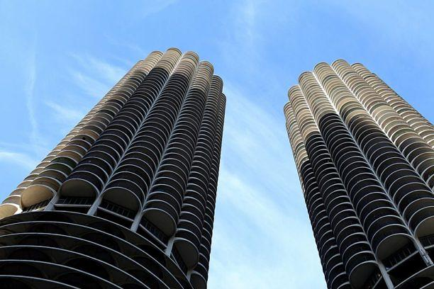 CHICAGO - NOVEMBER 13: Marina City Towers, in Chicago, Illinois on NOVEMBER 13, 2013. (Photo By Raymond Boyd/Getty Images)