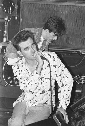 Morrissey and Johnny Marr of The Smiths perform live on stage at The Royal Albert Hall, London, 05 April 1985. (Photo by Phil Dent/Redferns)