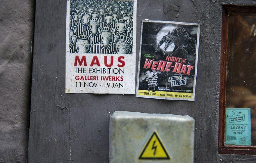 Mini-Plakate für Mäuse-Ausstellung in Malmö.