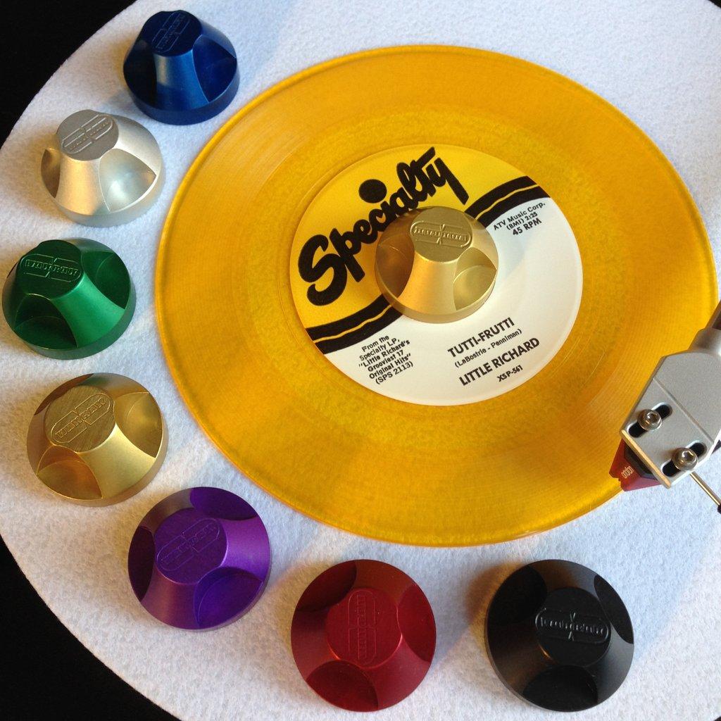 Der 45A-Adapter von Wax Rax zum Abspielen von Vinyl-Singles
