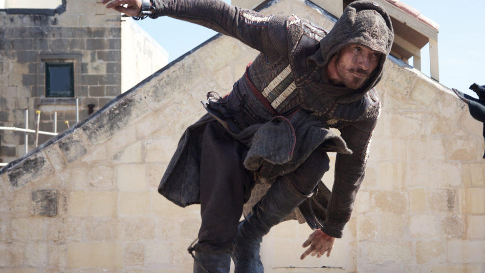 "Michael Fassbender in ""Assassin's Creed""."