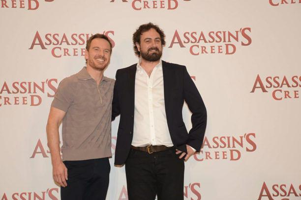 Michael Fassbender (l.) und Regisseur Justin Kurzel.