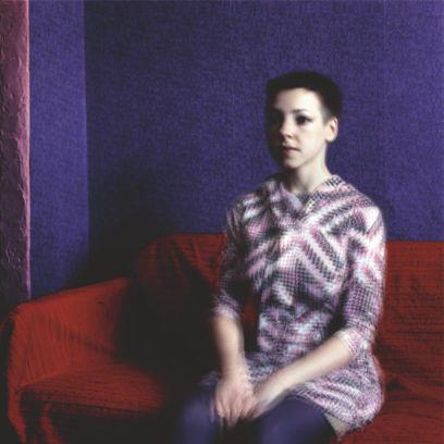 11. Portrait im Interieur, 2006, Lambdaprint auf Aluminium gerahmt, 100 x 100 cm