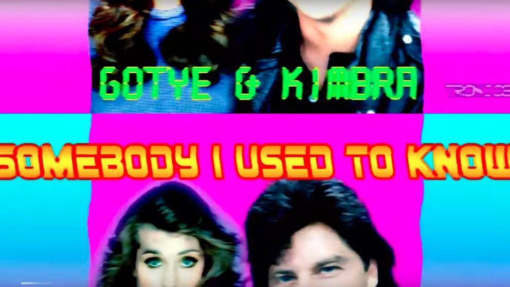 """Screenshot aus dem neuen Video zur 80er-Verion von Gotyes Song """"Somebody I Used To Know"""""""