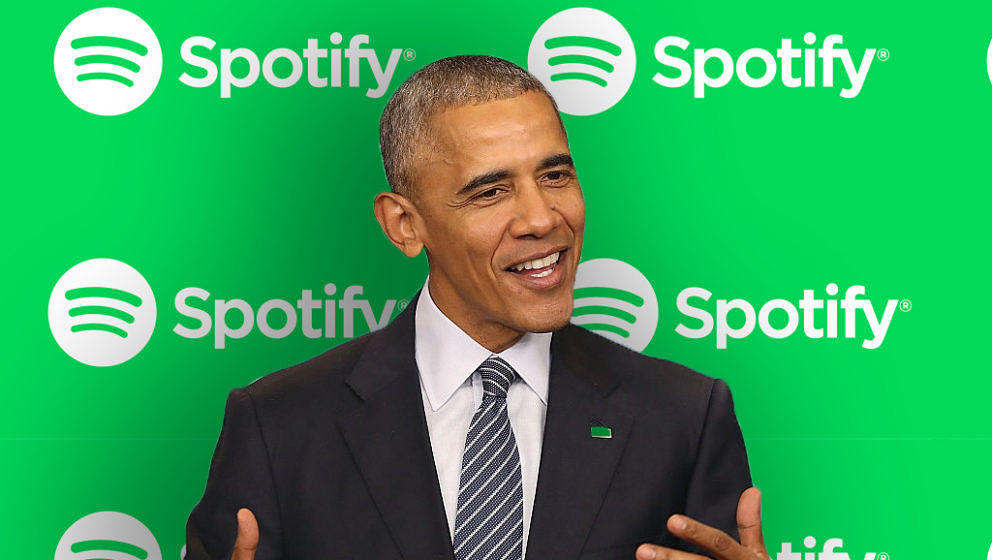 Wird Obama bald für Spotify arbeiten? Die Eignung dafür hat er jedenfalls.