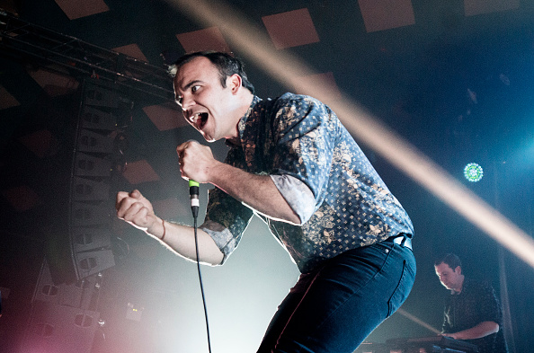 GLASGOW, SCOTLAND - SEPTEMBER 09:  Samuel Herring of Future Islands performs  at Barrowlands Ballroom on September 9, 2015 in