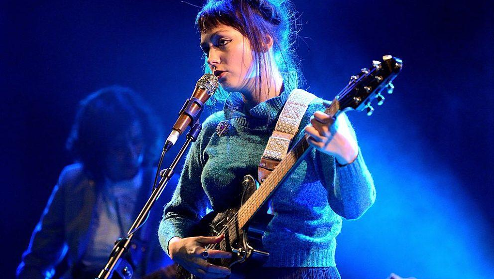 LONDON, ENGLAND - OCTOBER 17: Angel Olsen performs on stage at KOKO on October 17, 2016 in London, England. (Photo by Gus Stewart/Redferns,)