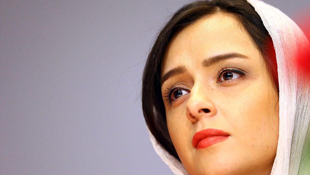 TEHRAN, IRAN - MAY 30:  Actress Taraneh Alidoosti looks on during Director Asghar Farhadi and Actor Shahab Hosseini - Press C
