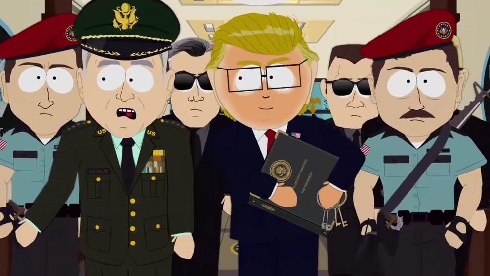 """Mr. Garrison im Pentagon in der Folge """"Oh Jeez"""""""
