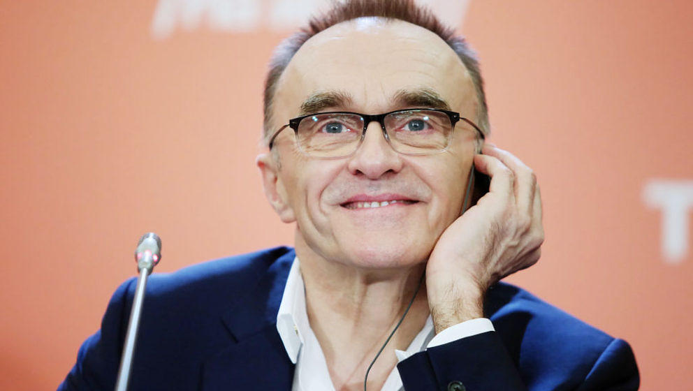 MOSCOW, RUSSIA - FEBRUARY 08: British film director Danny Boyle speaks during a press conference in Moscow's Ritz-Carlton Hot