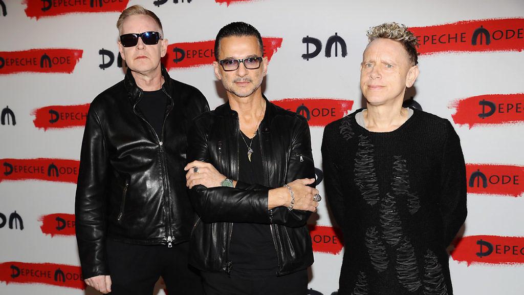 Depeche Mode 2016 bei einer Pressekonferenz in Mailand