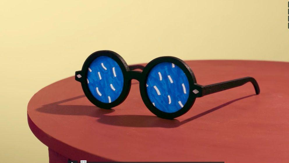 Videostill aus dem neuen Video zur Hockney-Ausstellung