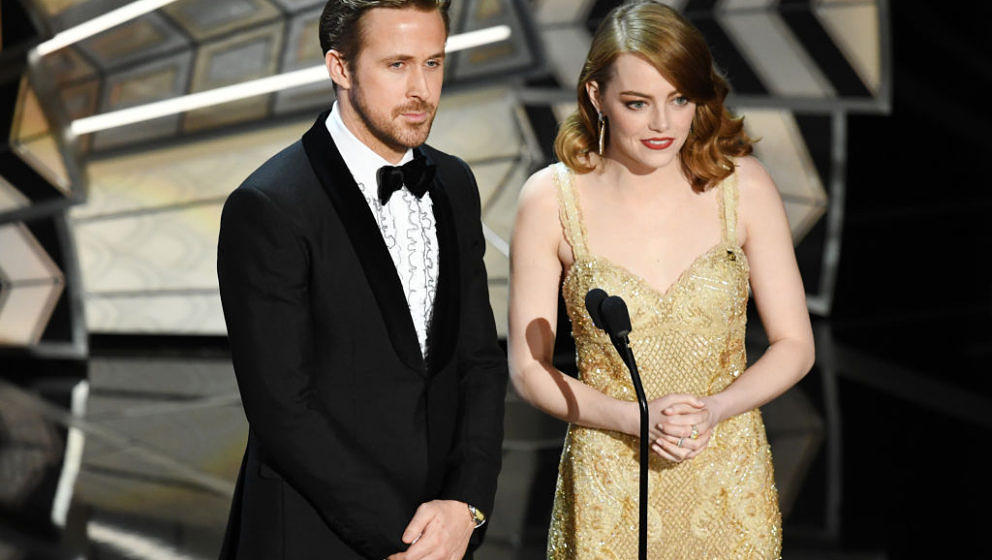 Ryan Gosling und Emma Stone bei den Oscars 2017