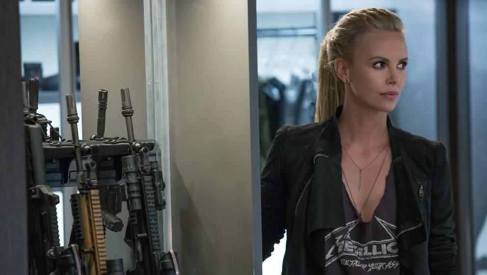 """Charlize Theron in """"Fast 8""""."""