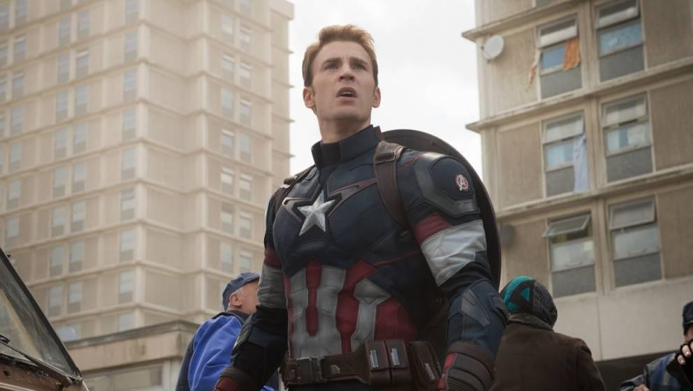 "Chris Evans als ""Captain America"""