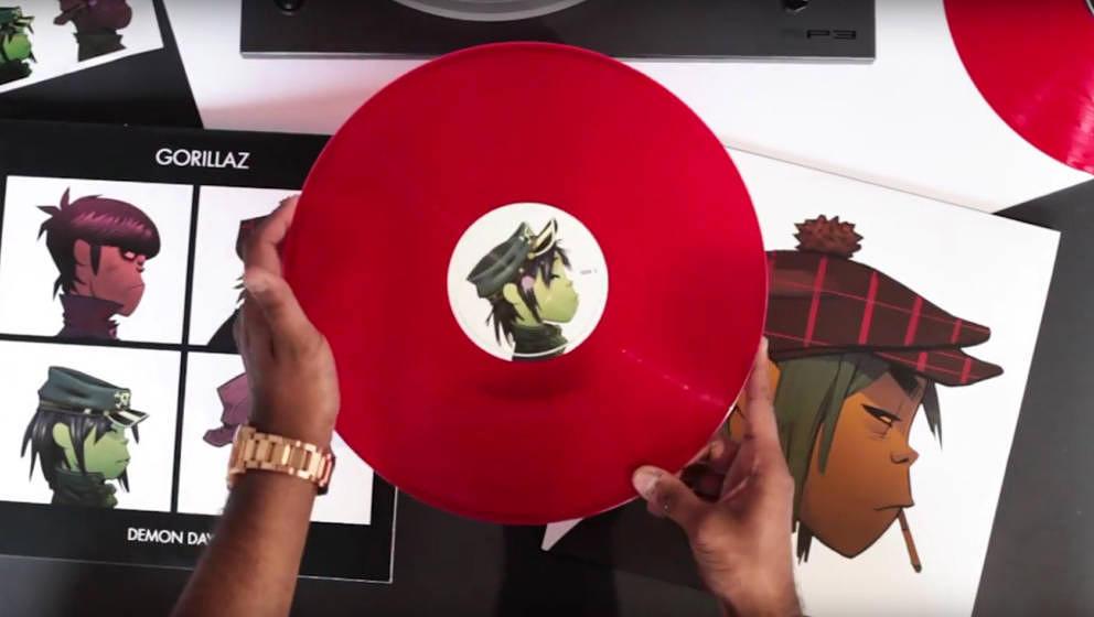 Gorillaz' DEMON DAYS als Re-Issue auf rotem Vinyl.