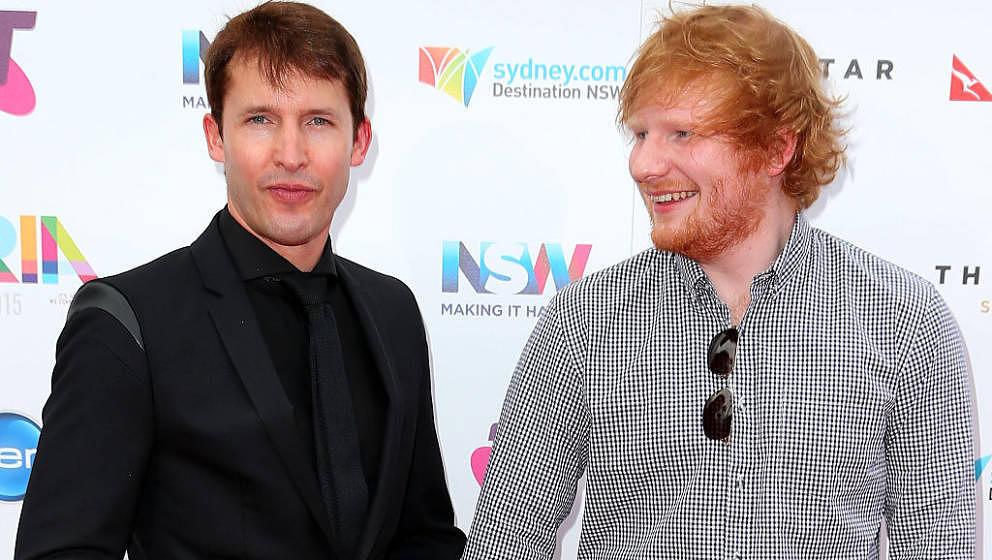Kennen und mögen sich: James Blunt und Ed Sheeran, hier im November 2015 in Sydney