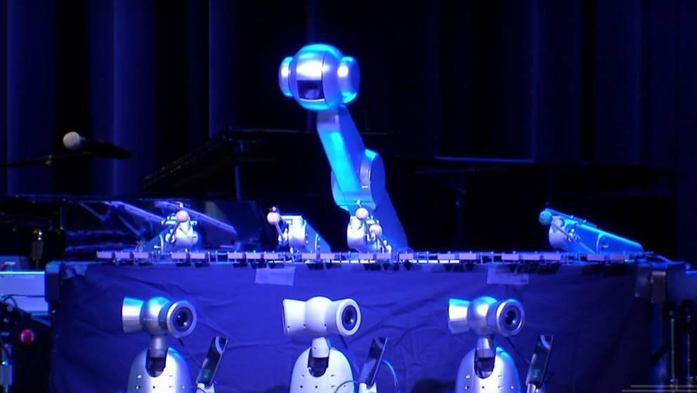 Shimon Robotic bei der Arbeit