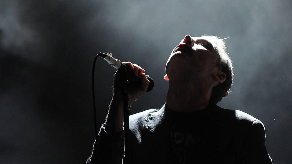 Vocalist Jim Reid of The Jesus and Mary Chain performs during the 2008 Download Festival on July, 19 2008 in Mountain View, C