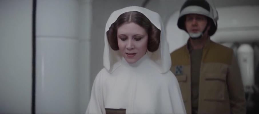 Leia wurde am Computer verjüngt.